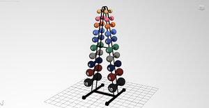 3d supportdumbbells model