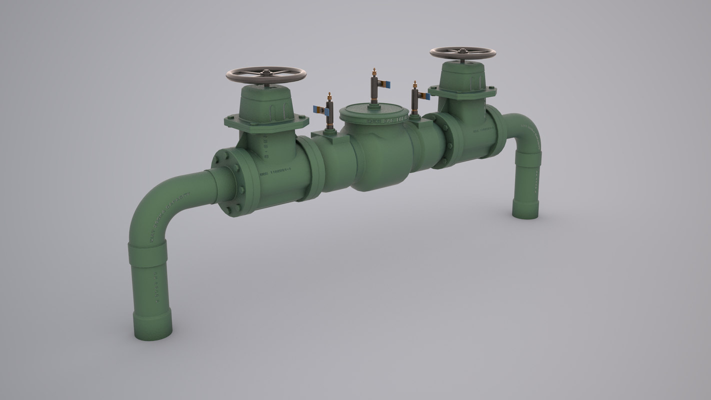 3d model of backflow preventer
