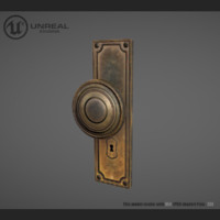 door lock rusty 3d obj