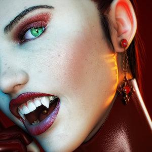 realistic female 2 vampirella 3d model
