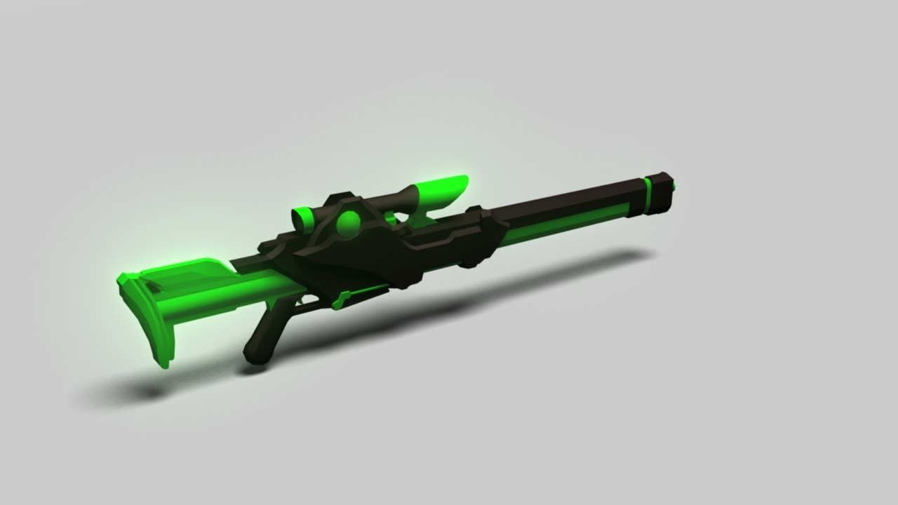 3d model sniper scifi