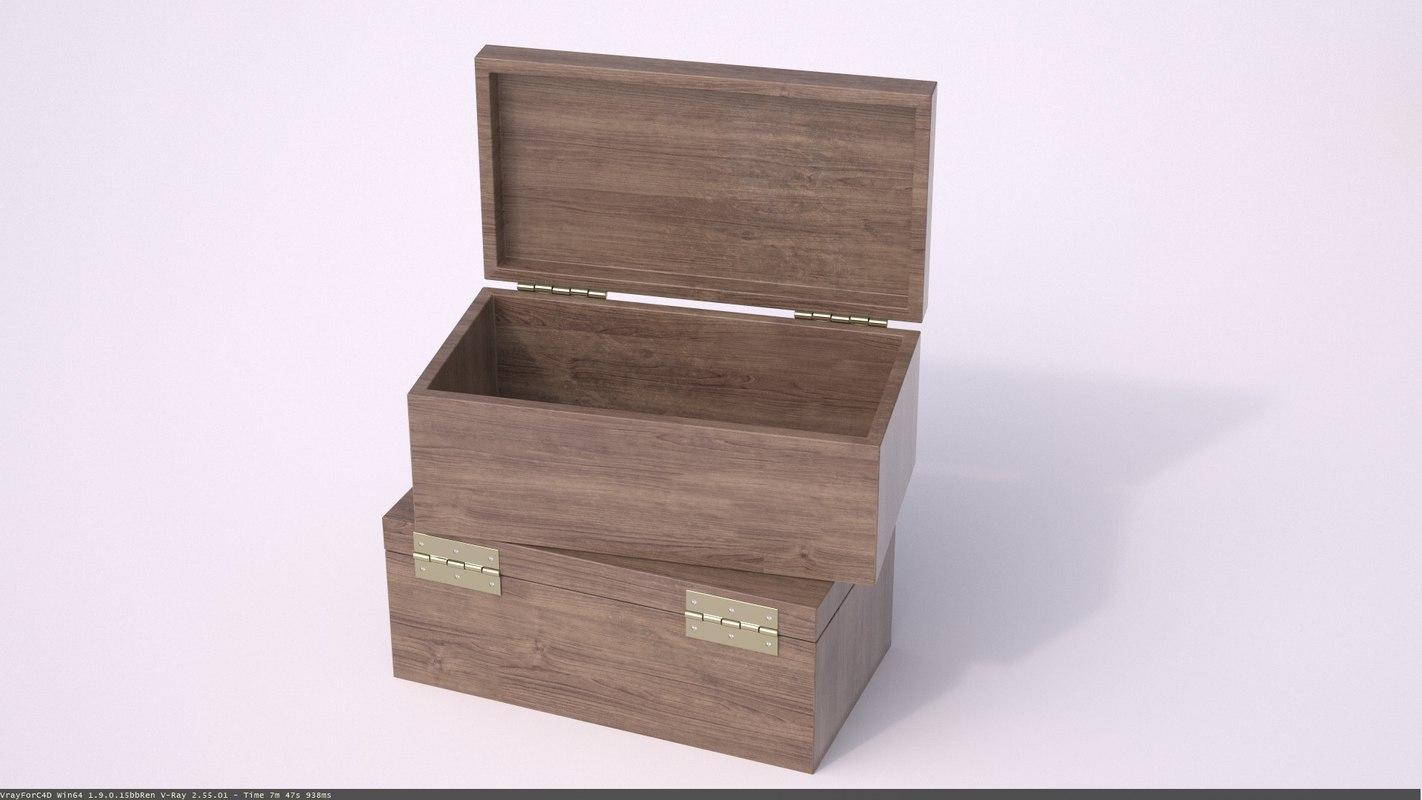wood box 3d 3ds