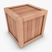 realistic wooden box 01 3d 3ds