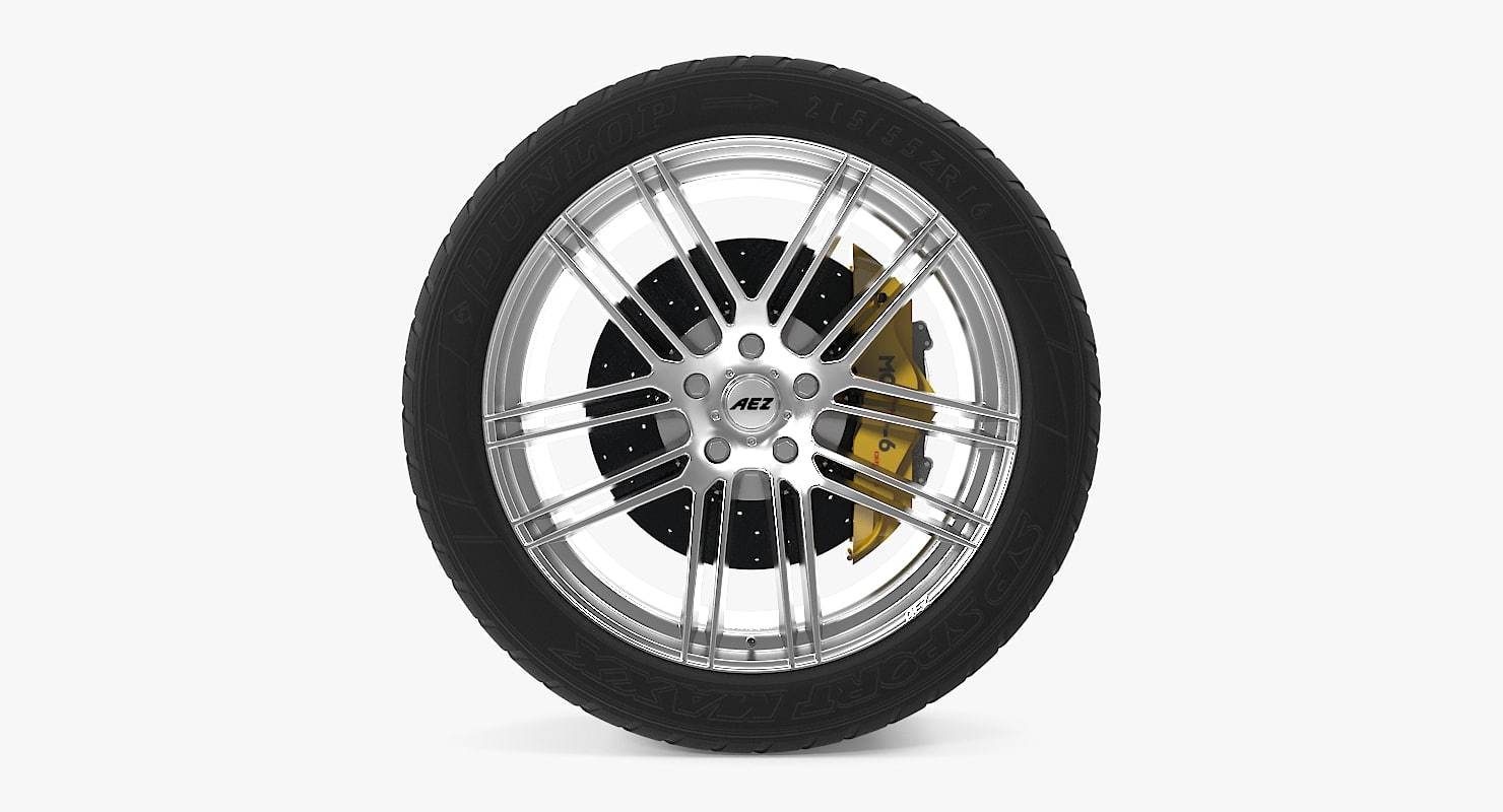 aez cliff disk car wheel 3d model