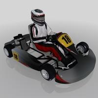3d model go-kart kart