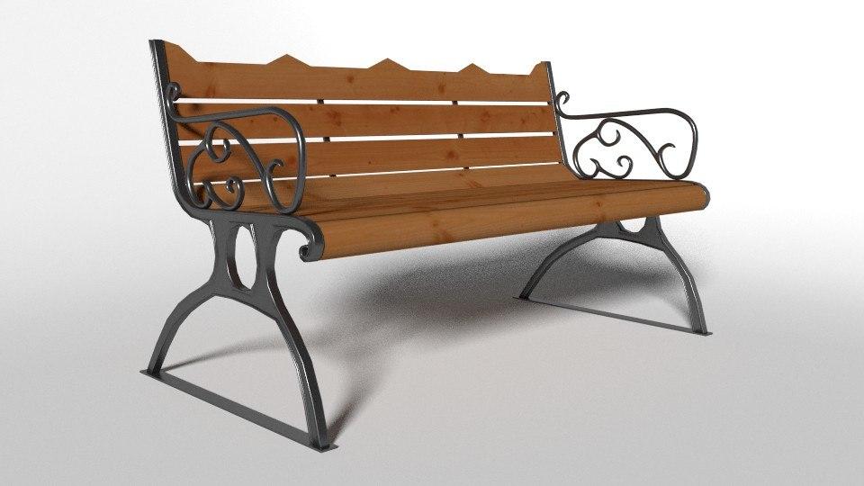 park chair 3d model