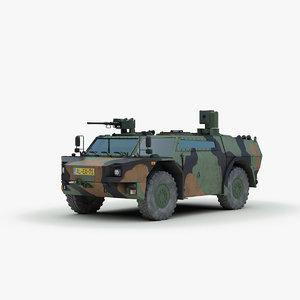 modern fennek armored car 3d max