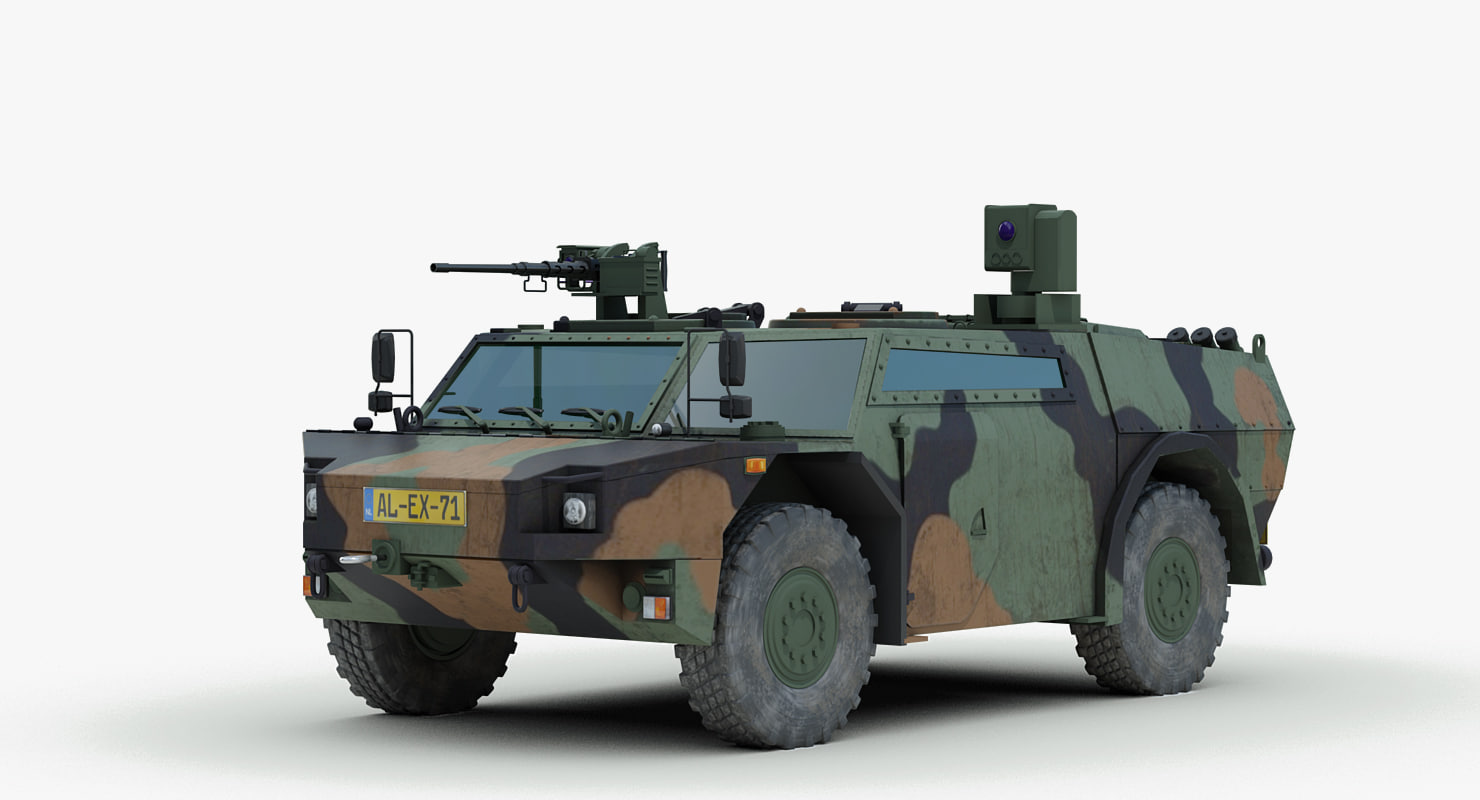 modern fennek armored car 3d max