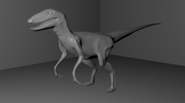 bipedal dinosaur 3d obj