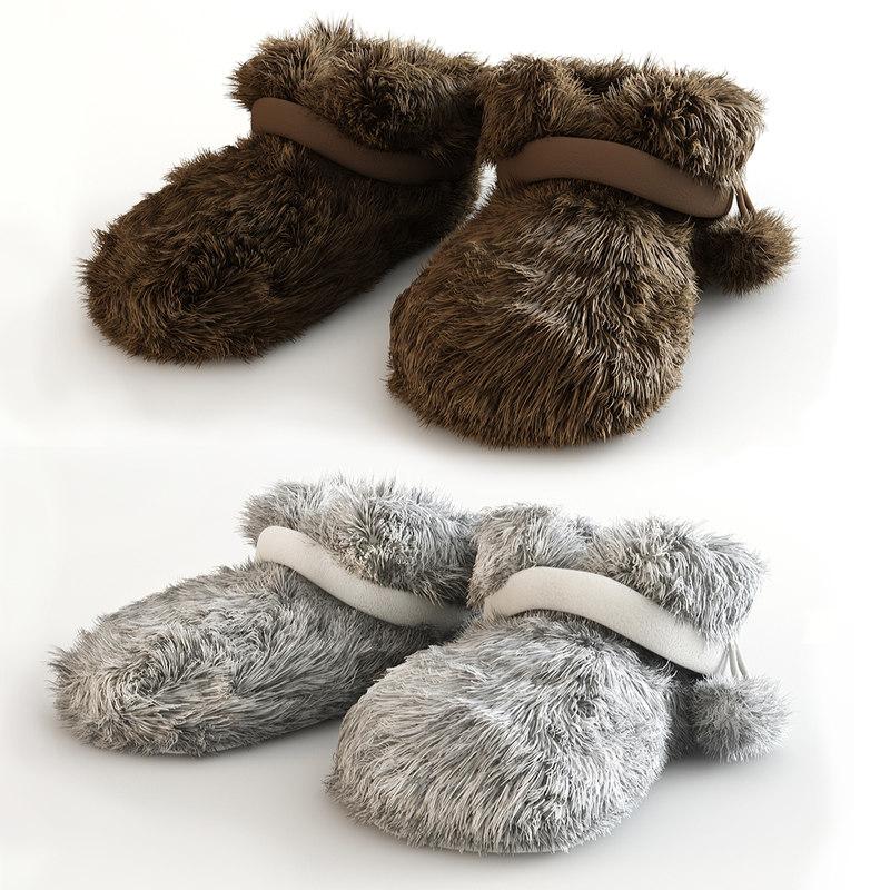 soft slippers 3d model