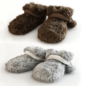 soft slippers 3d model