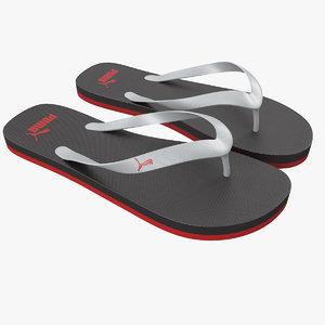 3d max puma flip-flops red