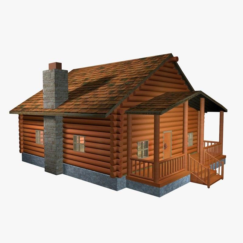 log cabin c4d