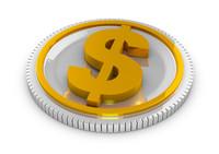 gold coin 3d model