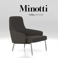 3d chair minotti coley armchair model