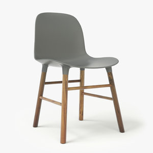 3d normann copenhagen form chair seat