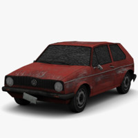 max golf mk1 - damage
