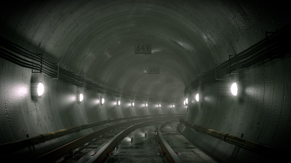 metro tunnel 3d model