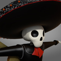 3d cartoon mariachi