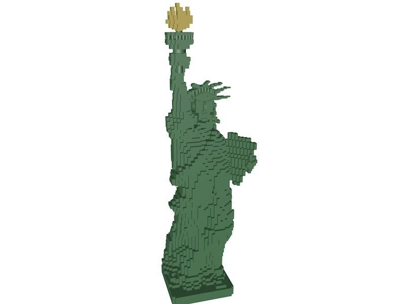 lego statue liberty 3d model