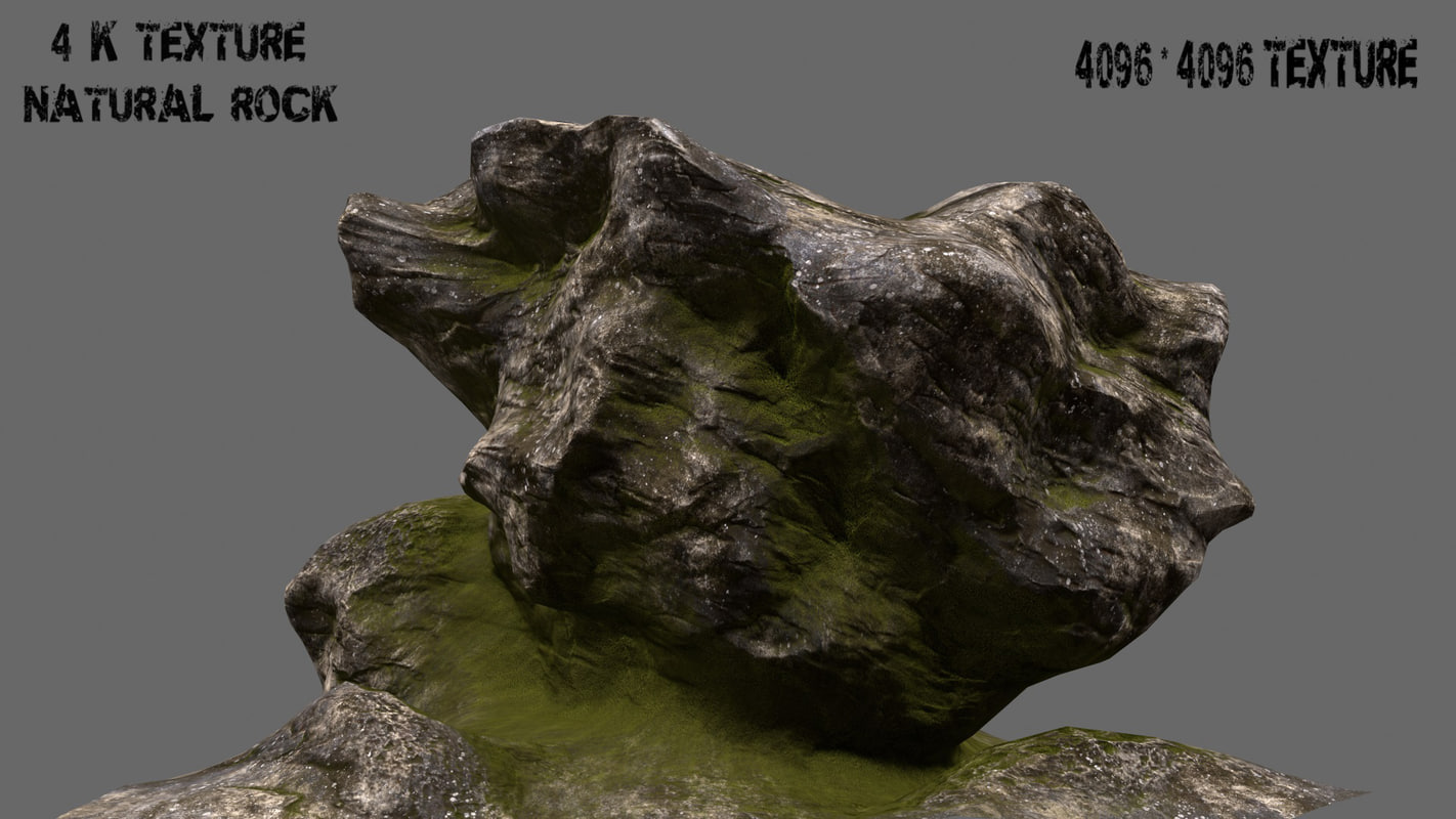 3d obj mountain rock
