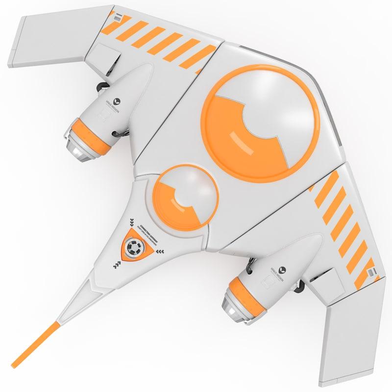 3d model of kayak space