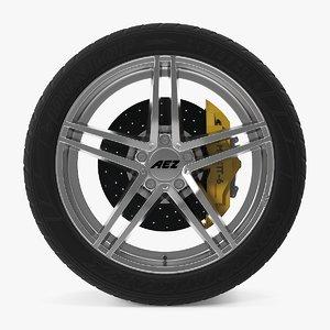 aez portofino disk car wheel 3d dxf