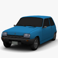 renault 5 - color 3d 3ds