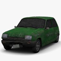 renault 5 - damaged 3d max