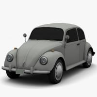 volkswagen beetle classic - 3d max