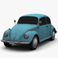 3d model volkswagen beetle classic -