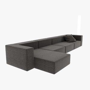 sofa wall 3d max