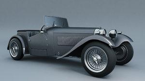 hrg sports car 1948 3d obj
