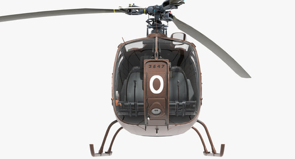 sa gazelle 3d model