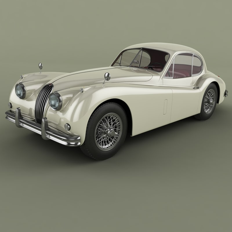 1954 Jaguar Xk140: 1954 Xk140 Fixed Head 3d Model