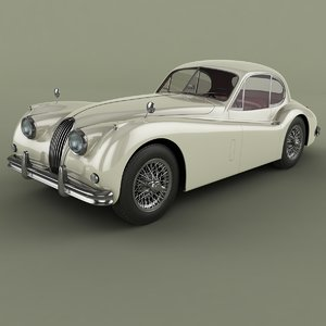 1954 xk140 fixed head 3d model