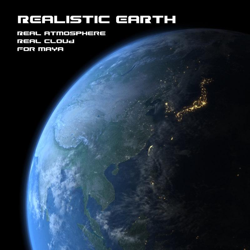 realistic earth 3d model