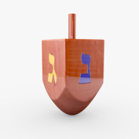 varnished dreidel x