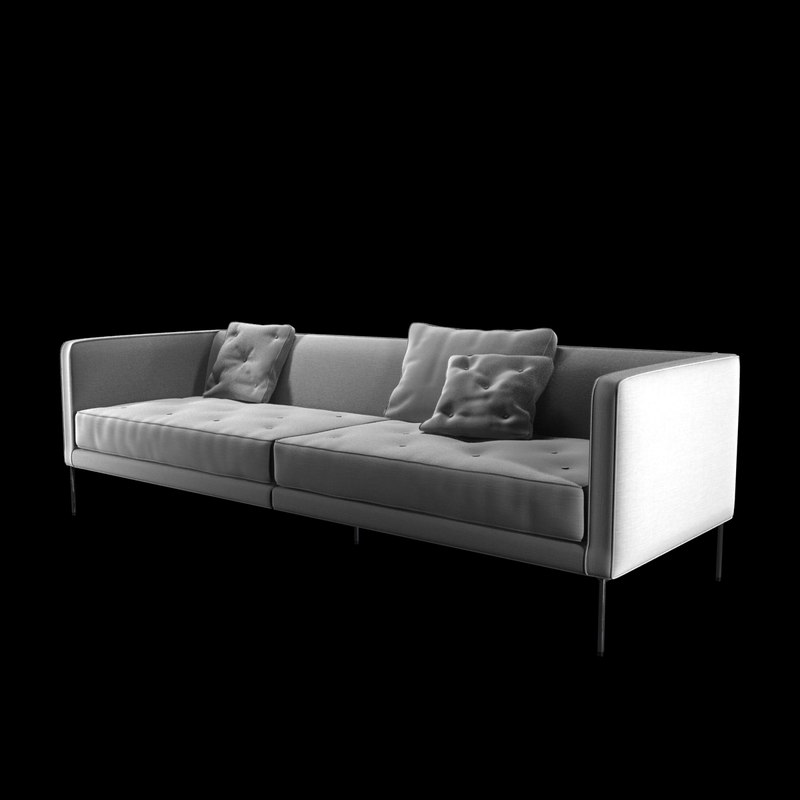 sofa cleared relax 3d 3ds