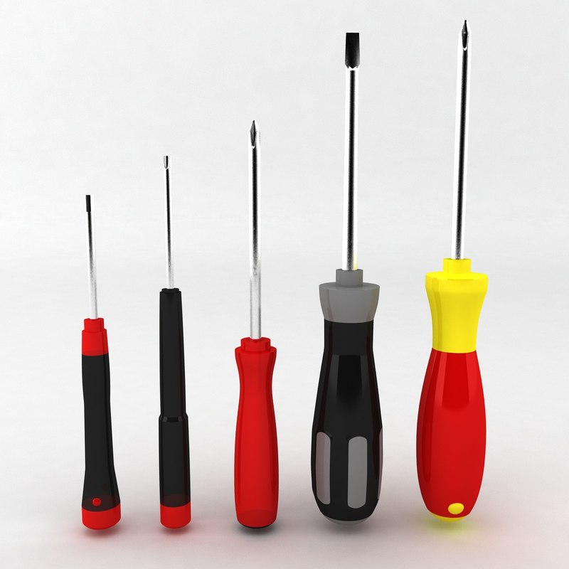 3d screwdrivers plastics metal