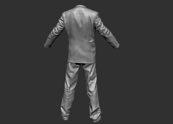3d man suit model