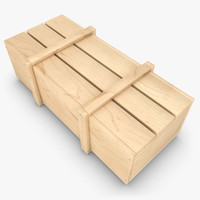 realistic wooden box 02 fbx