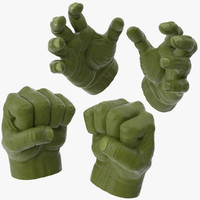 Hulk Hands Opened and Closed