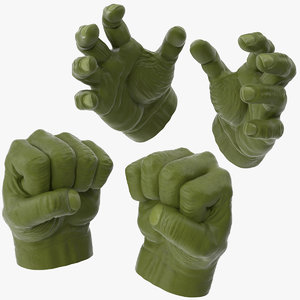 hulk hands opened closed 3d max