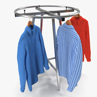 clothing rack 4 3d c4d