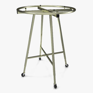 3d model clothing rack wheels