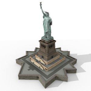 blend statue liberty