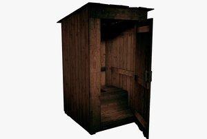 obj wooden latrine