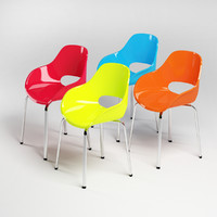 plastic chairs 3d max