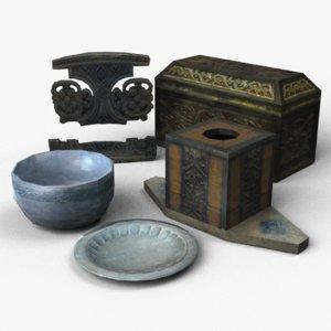 3d model bowl chest decoration